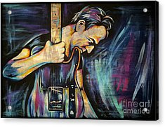 The Boss Bruce Springsteen Acrylic Print by Amy Belonio