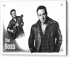The Boss - Bruce Springsteen Acrylic Print by Iren Faerevaag