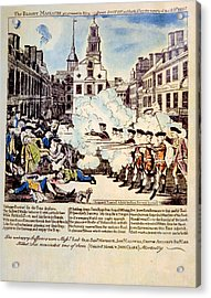 The Boston Massacre, March 5, 1770 Acrylic Print by Everett