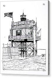 The Boston Narrows Lighthouse Acrylic Print by Ira Shander