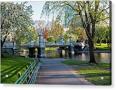 The Boston Public Garden In The Spring Boston Ma Acrylic Print