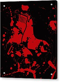 The Boston Red Sox 1b Acrylic Print by Brian Reaves