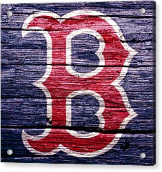 The Boston Red Sox 2b Acrylic Print by Brian Reaves