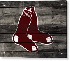 The Boston Red Sox W8  Acrylic Print by Brian Reaves