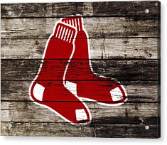 The Boston Red Sox W9   Acrylic Print by Brian Reaves