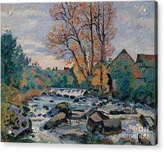 The Bouchardon Mill, Crozant Acrylic Print by Jean Baptiste Armand Guillaumin