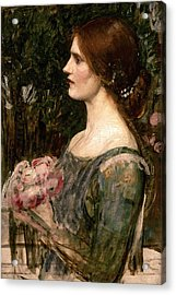 The Bouquet Acrylic Print by John William Waterhouse