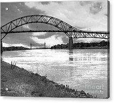 The Bourne And Railroad Bridges Acrylic Print