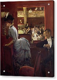 The Box By The Stalls Acrylic Print by Jean Beraud