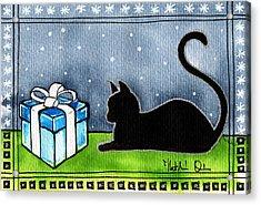 The Box Is Mine - Christmas Cat Acrylic Print