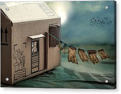 The Box That Was A House Acrylic Print by Maggie Terlecki