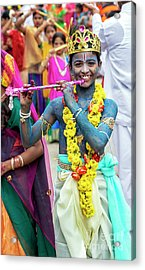 Acrylic Print featuring the photograph The Boy Krishna by Tim Gainey