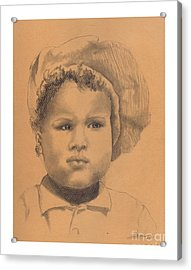 The Boy Who Hated Cheerios -- Portrait Of African-american Child Acrylic Print