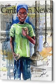 The Boy Who Sells Peanuts Acrylic Print