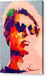 The Boy With Black Shades Acrylic Print