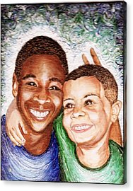 The Boys  Acrylic Print by Keenya  Woods