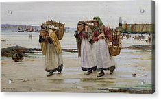 The Breadwinners Or Newlyn Fishwives Acrylic Print by Walter Langley