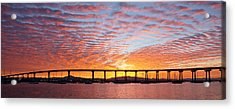Acrylic Print featuring the photograph The Break Of Dawn In Coronado by Jeremy McKay