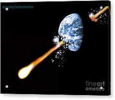 The Breaking Up Of A Planet Acrylic Print by Dale Bryant