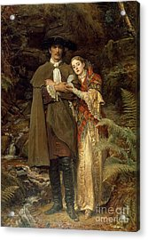 The Bride Of Lammermoor Acrylic Print by Sir John Everett Millais