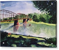 The Bridge At Ft. Benton Acrylic Print