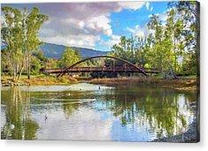 The Bridge At Vasona Lake Digital Art Acrylic Print