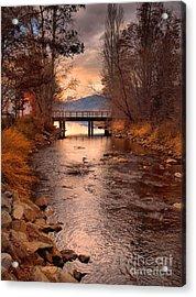 The Bridge By The Lake Acrylic Print
