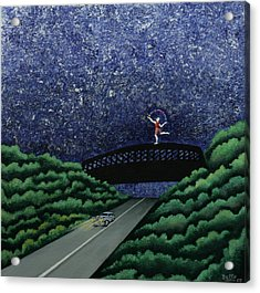 The Bridge II Acrylic Print by Graciela Bello