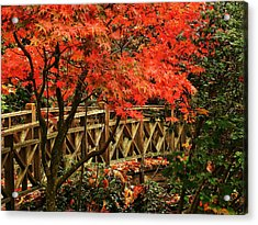 The Bridge In The Park Acrylic Print