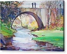 The Bridge Over Brewster Garden Acrylic Print