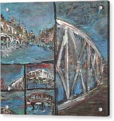 The Bridge Acrylic Print by Vivien Ferrari