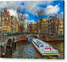 Acrylic Print featuring the photograph The Bridges Of Amsterdam by Juan Carlos Ferro Duque