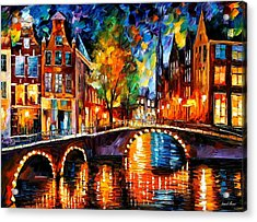 The Bridges Of Amsterdam Acrylic Print