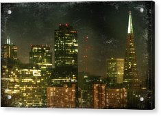 The Bright City Lights Acrylic Print by Laurie Search