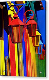 The Bright Lamps Of La Boca Acrylic Print by JoeRay Kelley
