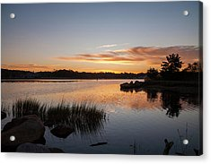 Acrylic Print featuring the photograph The Brink - Pawcatuck River Sunrise by Kirkodd Photography Of New England