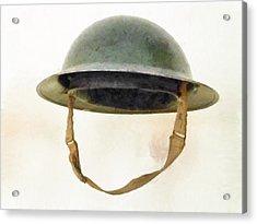 The British Brodie Helmet  Acrylic Print