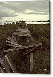 The Broken Dock Acrylic Print by Ron Dubin