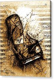 The Broken Harp Acrylic Print by Gary Bodnar