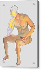 Acrylic Print featuring the pastel The Broken Man by Jean Haynes