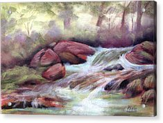 The Brook Acrylic Print by Patricia Seitz