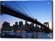 The Brooklyn Bridge Acrylic Print by American School