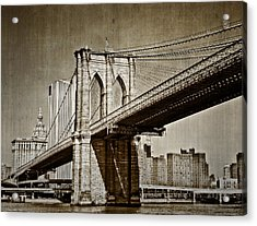 The Brooklyn Bridge Acrylic Print by Kathy Jennings