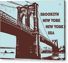 The Brooklyn Bridge, New York, Ny Acrylic Print