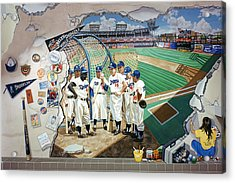 The Brooklyn Dodgers In Ebbets Field Acrylic Print