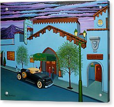 The Brown Derby Acrylic Print by Tracy Dennison