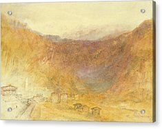 The Brunig Pass From Meiringen Acrylic Print by Joseph Mallord William Turner