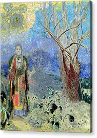The Buddha Acrylic Print by Odilon Redon