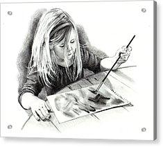 The Budding Artist Acrylic Print by Joyce Geleynse