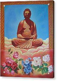The Budha Acrylic Print by Hiske Tas Bain